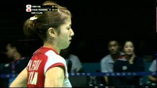 Semi Finals - Korea (Kim/Ha) vs Japan (Fujii/Kakiiwa) - Uber Cup 2012