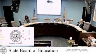 Arizona State Board of Education - September 25 - Regular Meeting