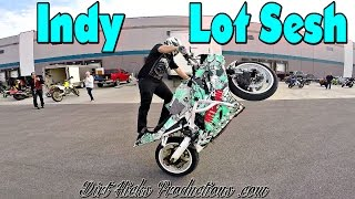 INDIANAPOLIS LOT DAY - FEB, 18, 2017 - STUNT RIDING EDIT - FIRST LOT SESH OF 2017