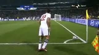 جنون المعلقين على هدف مصر في ايطاليا