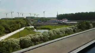 June 2017 China Shanghai maglev VIP sunny trip to pu dong, 300kmh window seat, 5 minutes, wow !!