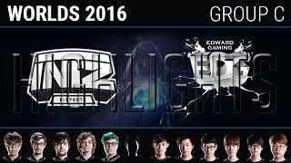 INTZ e-Sports vs Edward Gaming Highlights, S6 World Championship 2016 Group C Day 1, ITZ vs AHQ