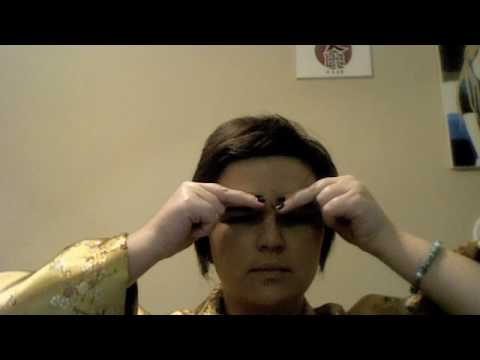 Facial Exercise Eye Lift and Frown Line