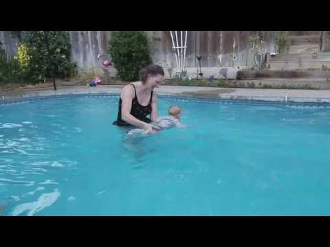 Bruce swimming at Grandma's house