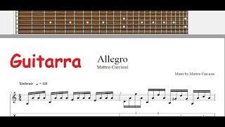 Como tocar Estudio 7 Matteo Carcassi en guitarra tab