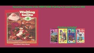 Barney: Waiting for Santa Super Rare Original VHS Opening & Closing