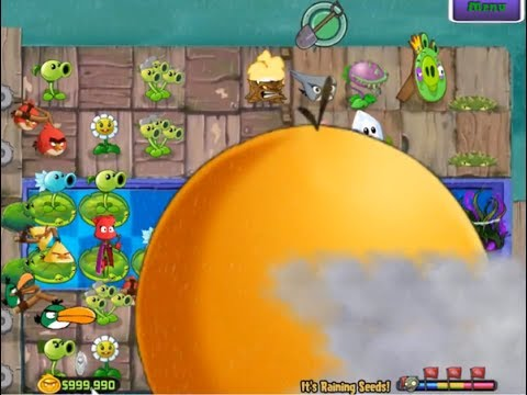 Plants vs Zombies Angry Birds Mod-Music Zombies On Your Lawn,It's Raining Seed