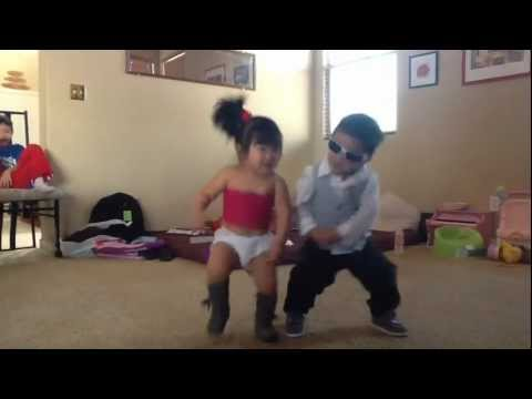 Gangnam style little psy and sexy baby