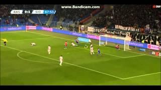 FC Basel vs. FC Sion (1:1) - 14.02.2015 - Goal Shkelzen Gashi