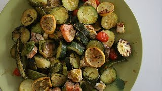 Baked Fish Mixed Veggies Recipe - Dinner Dish Idea - Heghineh Cooking Show