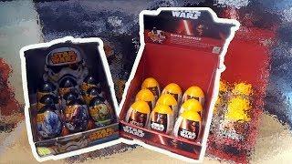 Star Wars OLD VS NEW 18 Kinder Surprise Eggs (Darth Vader, Yoda, Stormtrooper)