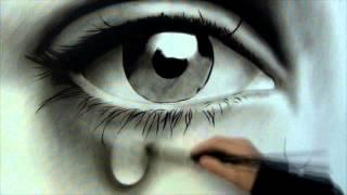 cara gambar mata 3d