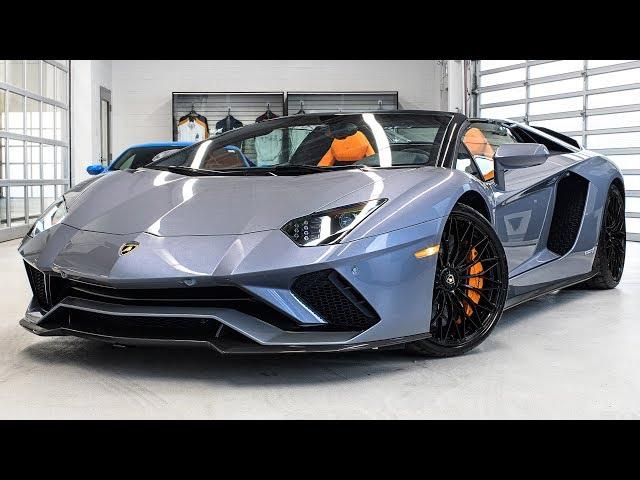 Delivery of a  2018 Lamborghini Aventador S LP740-4 Roadster in Grigio Oneirus!!! 4K