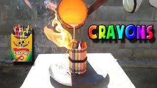 Molten Copper vs Crayons