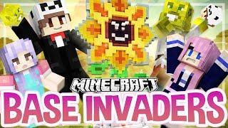 Flower Power!   Minecraft Base Invaders Challenge