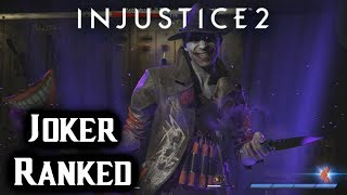 Injustice 2 The Joker online ranked matches gameplay