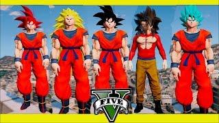 Gta 5 Dragon Ball Z Mod TODAS LAS TRANSFORMACIONES DE GOKU Thejairovy