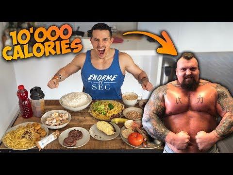 Je mange comme l homme le plus fort du monde 10000 calories