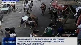 Lalaking dawit sa pagpatay sa kapitbahay dahil sa videoke, pinagtulungan ng mga kaanak ng biktima