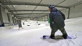 SNOWBOARDING INDOORS!