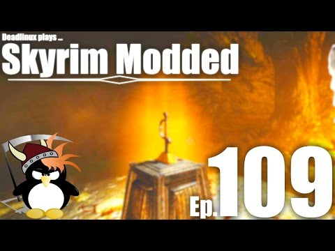 Unlocking Red Eagle's Tomb - Skyrim Modded Ep 109