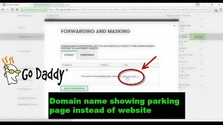 Godaddy |  Domain name showing parking page instead of website