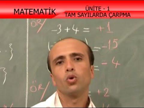 01. Tam Sayılarda Çarpma Bölme İlköğretim 7. Sınıf Matematik