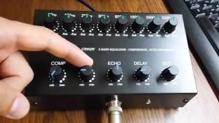 UR6QW 8 band Equalizer Compressor with Echo effect (EQ V.4)