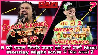 Will Roman Reigns Take Revenge ? || Undertaker Return || Strowman Partner || RAW Preview 26/03/18