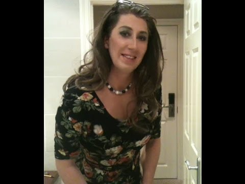 Transvestite Tgirl at shopping centre crossdressed
