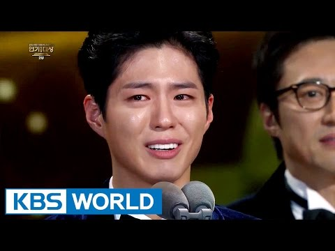 Joongki shed tears as Bogum wins Top Excellence in Acting Award [2016 KBS Drama Awards2017.01.03]