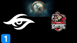 Secret vs Empire Game 1  The International 2017 Highlights Dota 2