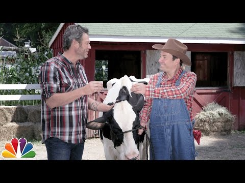 Xxx Mp4 Blake Shelton Teaches Jimmy How To Milk A Cow 3gp Sex