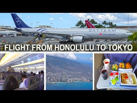 My Flight From Honolulu To Tokyo - Airbus A330-300, China Airlines 2016 4K