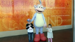 Boots Meet and Greet from Dora the Explorer at Nickelodeon Land Blackpool