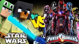 Minecraft STAR WARS VS POWER RANGERS - LITTLE LIZARD & DONUT BECOME POWER RANGERS - Donut the Dog