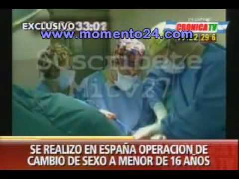 Un menor de 16 se sometió a una operación de cambio de sexo