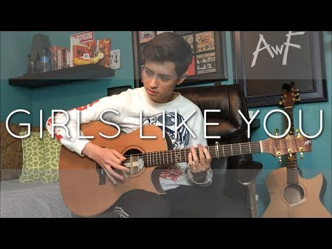 Maroon 5 - Girls Like You ft. Cardi B - Cover (Fingerstyle Guitar)