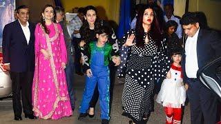 Bollywood Celebs With Kids At Their School Ambani International Annual Day 2017 -Aishwarya,Aaradhya