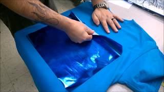 Printed Blue Foil Shirt- Anajet MP5i DTG