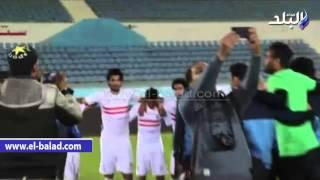 صدى البلد   مشادة عنيفة بين باسم مرسي وحمودي عقب مباراة بتروجيت