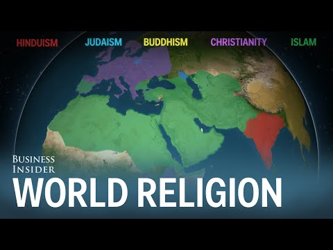 Animated map shows how religion spread