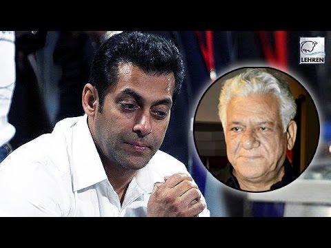 Salman Khan REACTS On Om Puri's Demise | LehrenTV