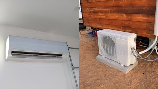 A/C Mini Split Installation - DIY How To Tiny House