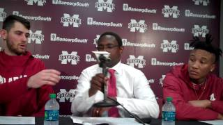 Riley Norris, Avery Johnson Sr., Dazon Ingram Mississippi State postgame 1-3-17
