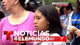 Alumna de colegio Rébsamen relata cómo escapó del derrumbe | Noticiero | Noticias Telemundo