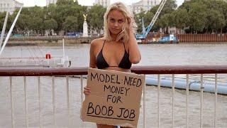 BIKINI MODEL PRANK: NEED MONEY FOR BOOB JOB!