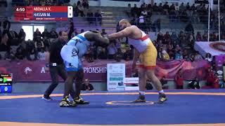 Round 1 FS - 125 kg: K. ABDALLA (EGY) v. M. HASSAN (SUD)