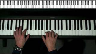 Not Too Hard, Fun Piano Lesson - Intermediate Blues lick for C7 F7 chords