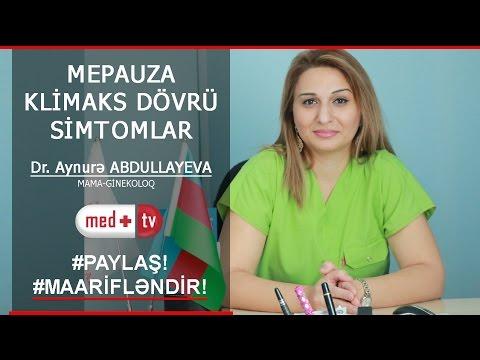 MENOPAUZA KLIMAKS SIMPTOMLAR VE MIFLER - DR. Aynurə ABDULLAYEVA Mama- GINEKOLOQ / MEDPLUS TV